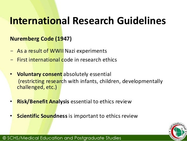 ethics guidelines for research with children