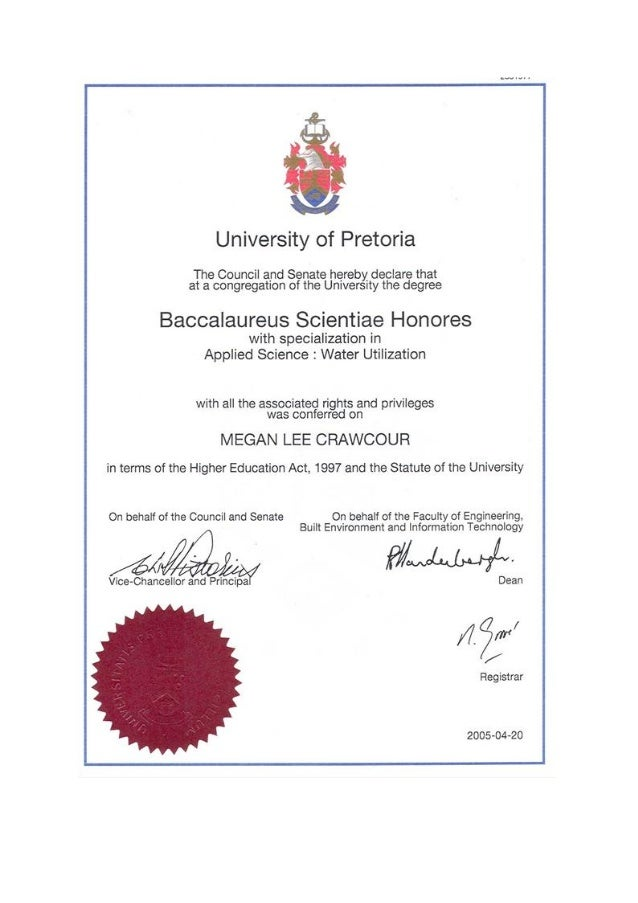 university of pretoria transcripts pdf