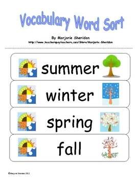 english vocabulary grouped by categories pdf primary school