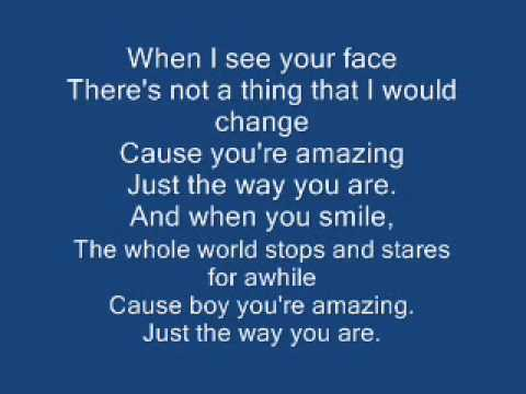 just the way you are lyrics pdf