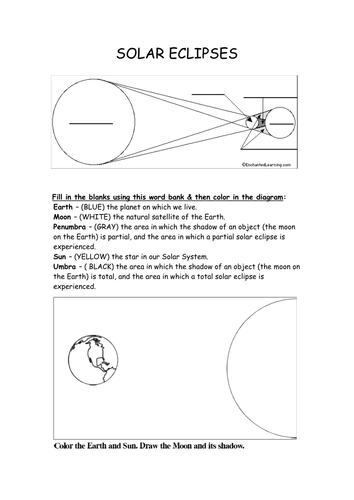 earth sun and moon worksheets for grade3 pdf