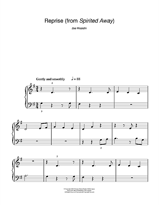 spirited away violin sheet music pdf