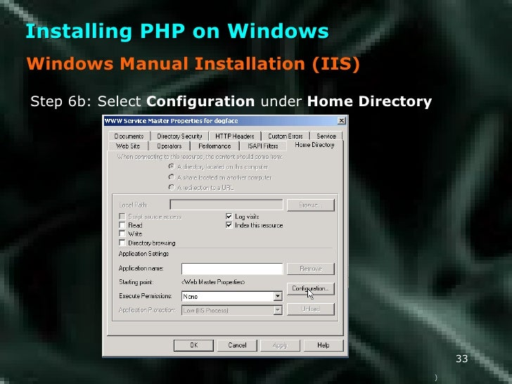 install manual php in iis