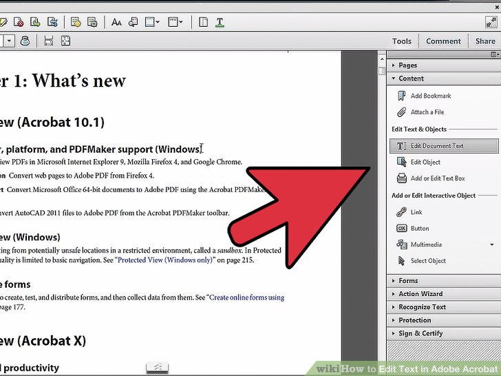 adobe acrobat reader edit pdf