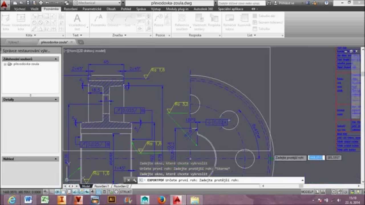 export pdf with hyperlinks from autocad