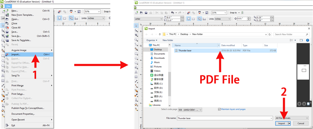 how to import photo to pdf